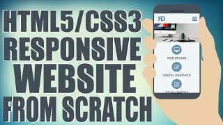 HTML5/CSS3 Responsive Website From Scratch - Design A Website Start To Finish
