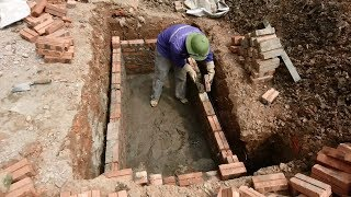 Amazing Construction Septic System Step By Step - Techniques Install Bricks Fastest Easy