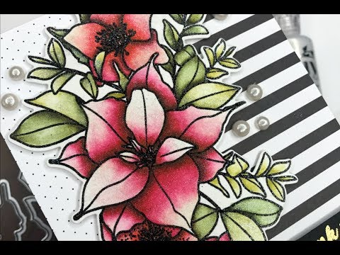 glittery-zig-coloring-with-wplus9-christmas-rose-bouquet