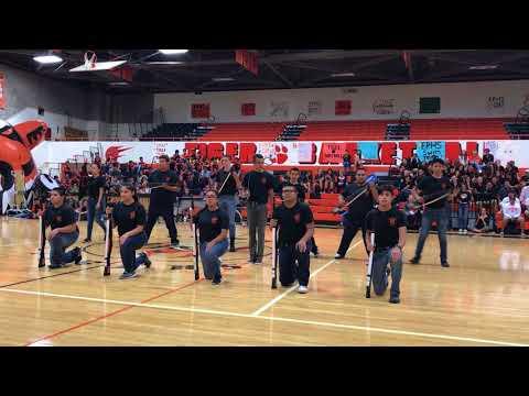"""El Paso Armed Drill Team, """"Tiger Night 2017"""""""