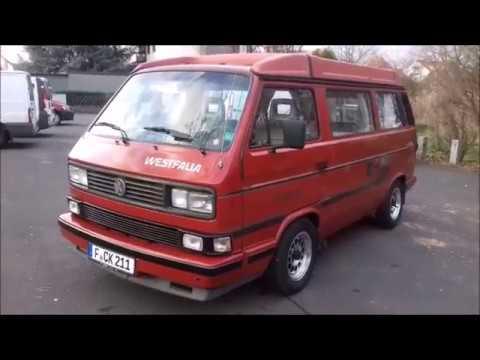 1988 VW Transporter T3 Westfalia startup, engine and in-depth tour