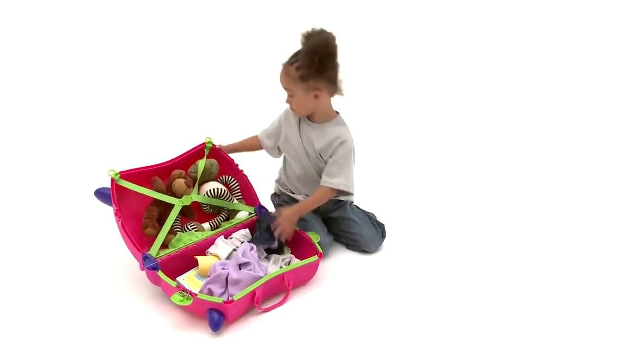 Детский чемодан Trunki Hello Kitty - YouTube