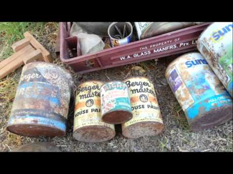 Huge Antique Relics Roadtrip - Oil Boxes - Old Bottles - Signs - Bikes - WW2 - Medical - Radios