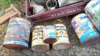Huge Antique Relics Roadtrip - Oil Boxes - Old Bottles - Signs - Bikes - WW2 - Medical - Radios