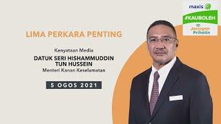 5 perkara penting kenyataan media harian PKP - 5 Ogos 2021