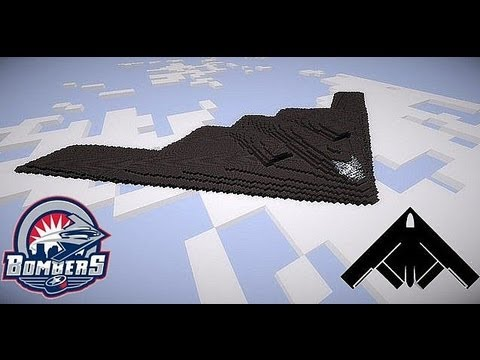 Northrop Grumman B-2 Spirit a Stealth Bomber Airplane in minecraft in HD with download here