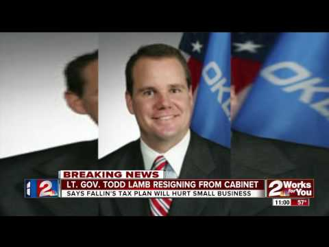Lt. Gov Todd Lamb resigns from Mary Fallin's Cabinet