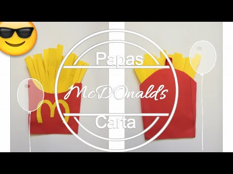 Como Hacer Una Carta De Papas Macdonal S Carta Decoracion Youtube