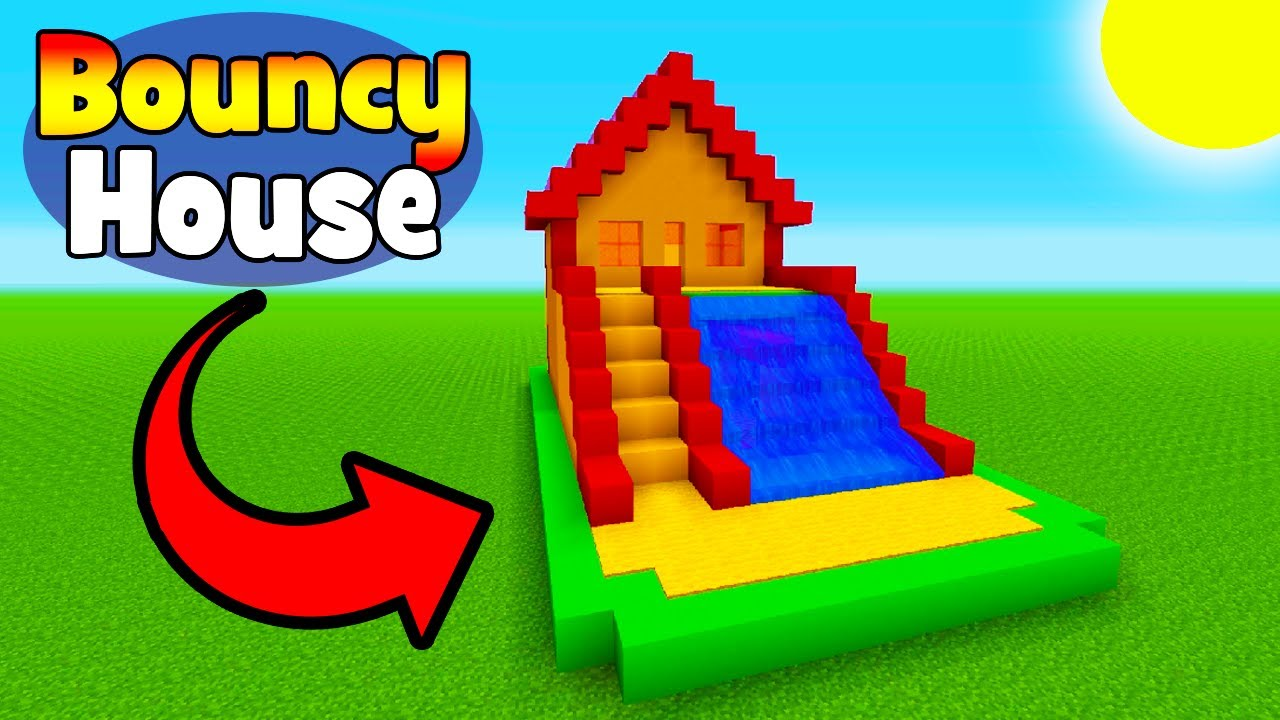 Minecraft Tutorial How To Make A Bouncy House With A