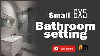 6'×5' ke bathoom ki setting
