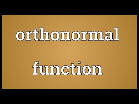 Orthonormal function Meaning