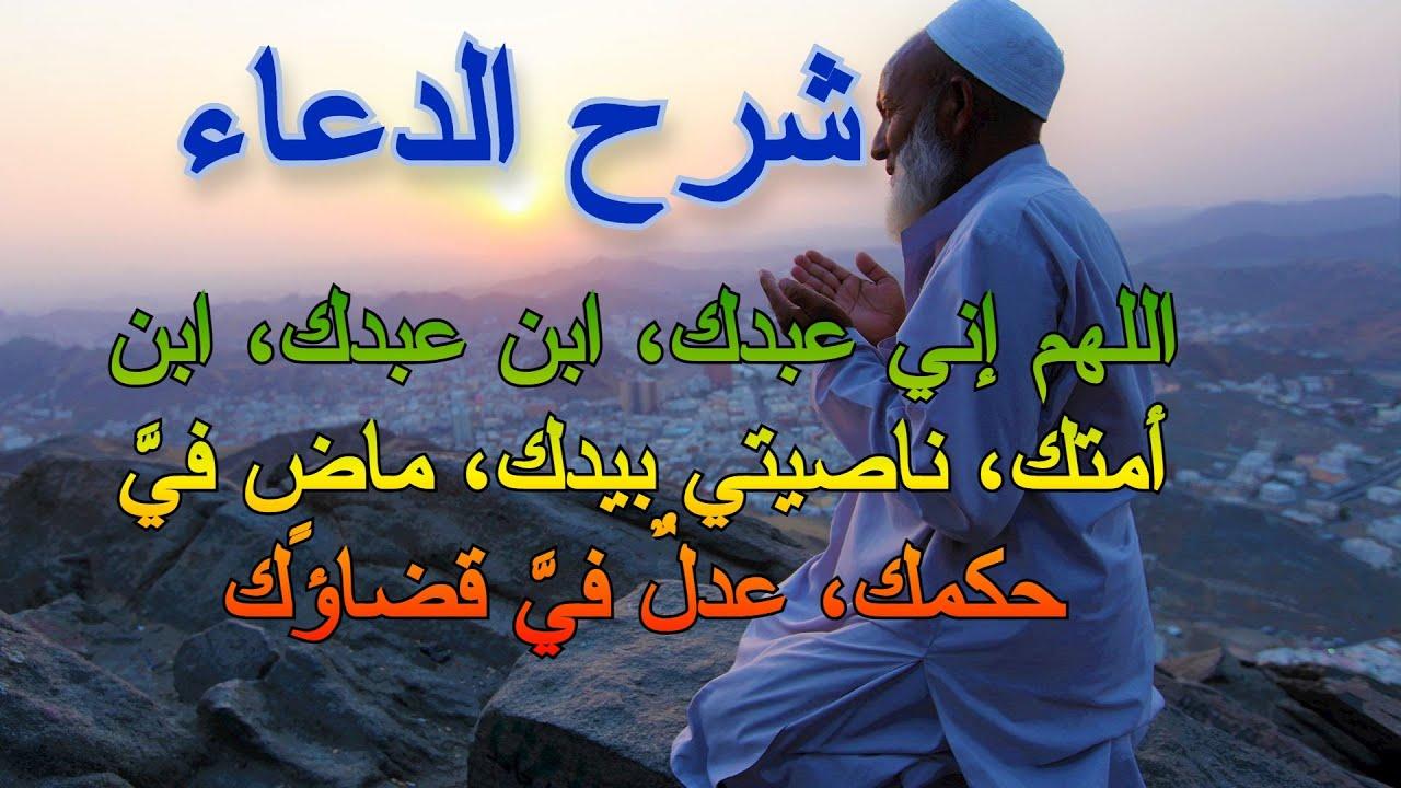 شرح الدعاء اللهم إني عبدك وابن عبدك وابن أمتك الشيخ حسين عامر