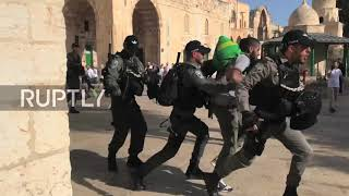 East Jerusalem: Chaos erupts after Israeli forces enter al-Aqsa during Ramadan