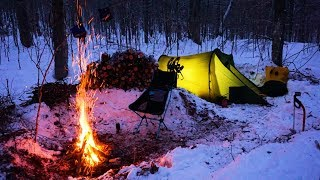 1 - Winter Camping in Algonquin Park Canada,  -24 Celsius,