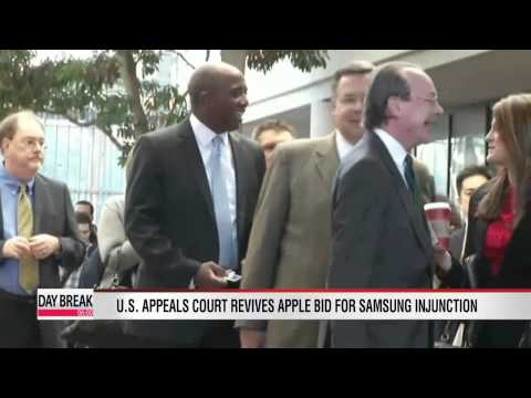 U.S. appeals court revives Apple bid for Samsung injunction