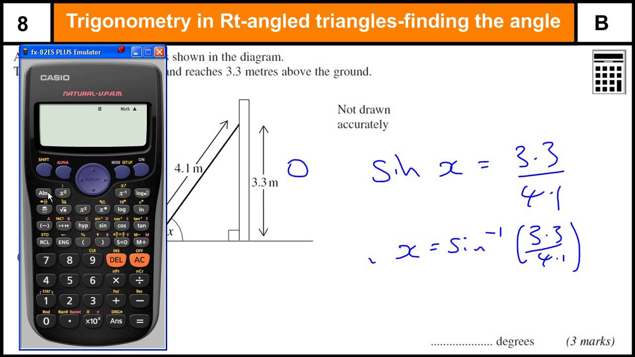 How To Do Trigonometry Finding The Angle Worked Examples Gcse