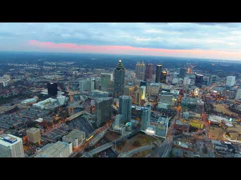 Atlanta Midtown To Downtown 4K