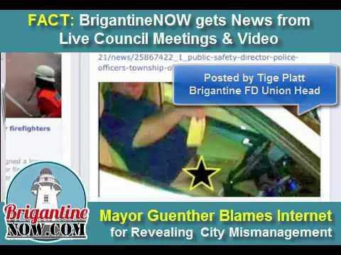Brigantine Mayor Guenther Dislikes Web Scrutiny.  7.18.15