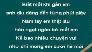 Diu Dang Den Tung Phut Giay Karaoke - Quang Vinh - CaoCuongPro