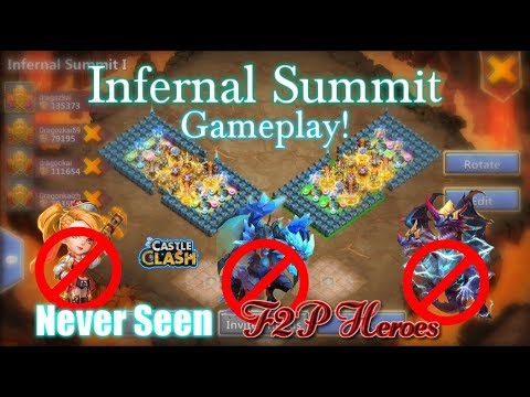 Castle Clash - Infernal Summit Epic Gameplay!_ F2P Heroes