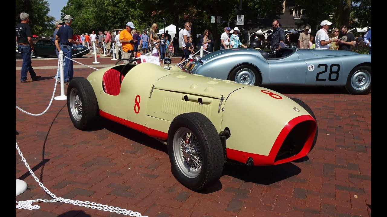 1949 Lester MG Racecar / Race Car # 8 with Engine Start Up on My Car ...