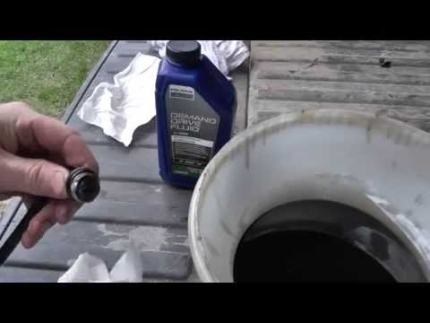 Rear Differential Fluid Change >> Front Differential Fluid change on Polaris Ranger: Front ...