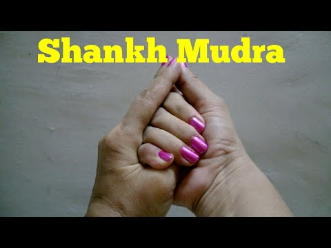 Shankh mudra for thyroid and speech problems