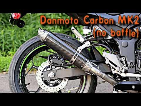 Danmoto Carbon Exhaust MK2 Kawasaki Ninja 300 2013-2017 EX1103