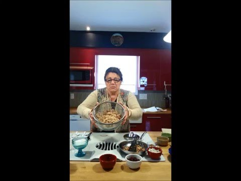 Making Koliva in the Red Kitchen