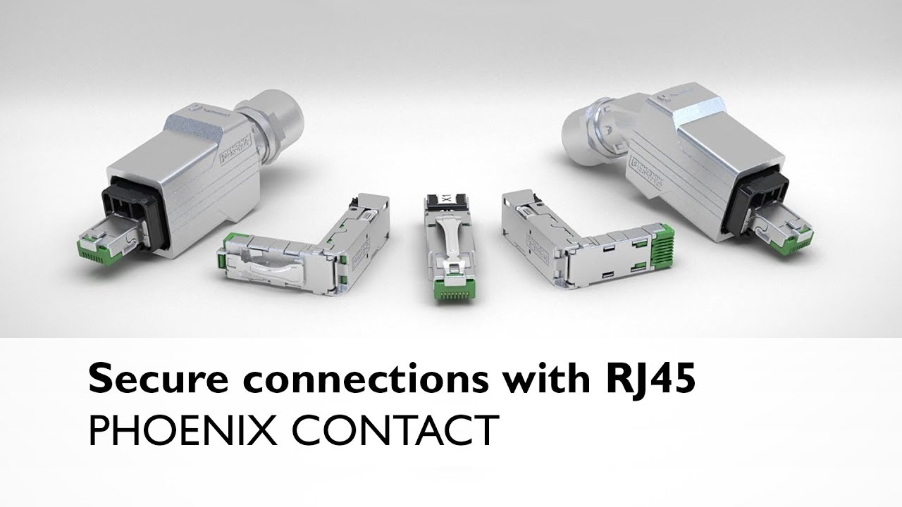 hight resolution of secure connections for ethernet and profinet with rj45 connectors