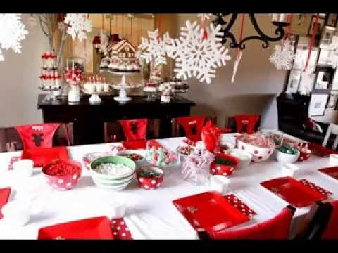 christmas dinner party decorating ideas youtube