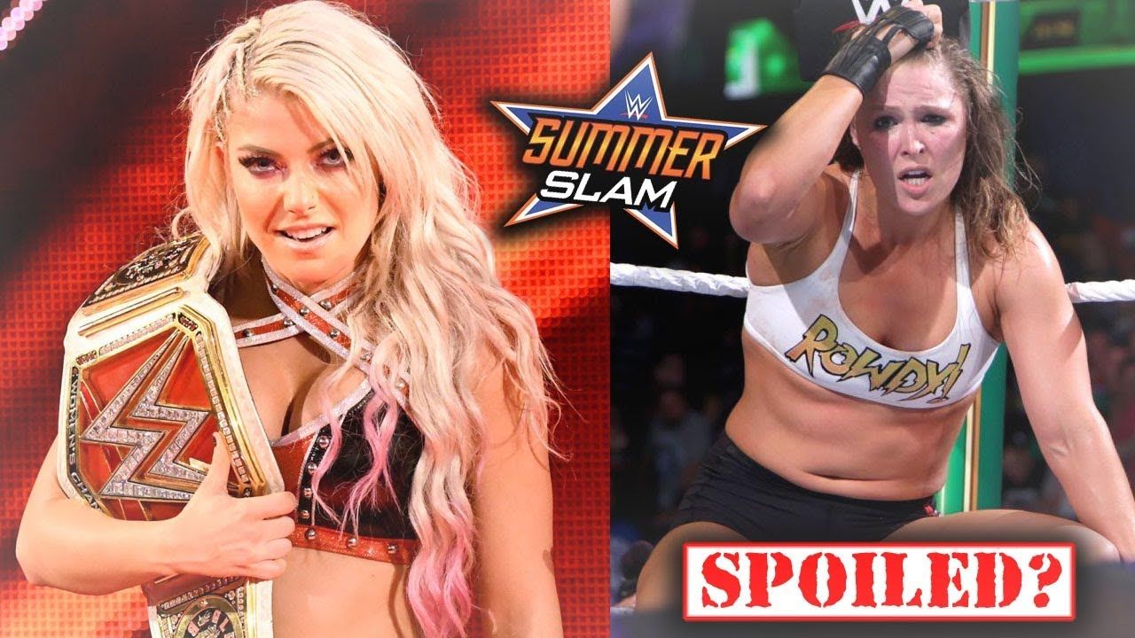 SHOCKING PLANS FOR WHAT WILL HAPPEN WITH ALEXA BLISS AND RONDA ROUSEY (WWE SUMMERSLAM)