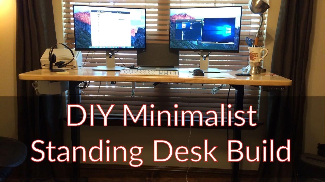 Diy Minimalist Standing Desk