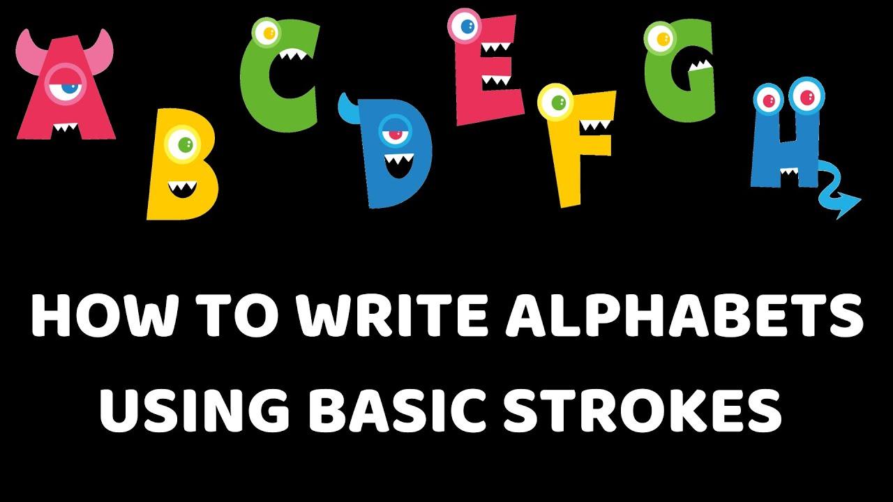 How to teach alphabets using basic strokes || Easy method ...