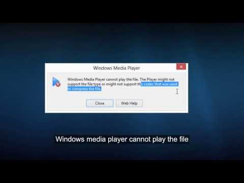 Windows media player cannot play the file  Codecs/ filetype  Error C00D1199