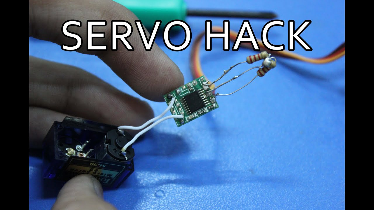 Tower Pro Sg 90 Micro Servo Hack 360 Rotation Youtube Hacked Circuits By 9volts