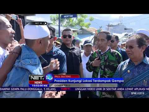 Tinjauan Langsung Ke Lokasi Terdampak Gempa Sulteng Dilakukan Presiden Jokowi - NET 10