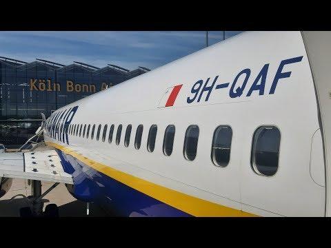 Malta Air (Ryanair) Boeing 737-8AS Manchester To Cologne Bonn | Full Flight