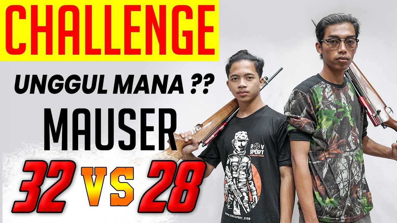 [ VERSUS ] CHALLENGE ADU AKURASI SENAPAN PCP MOUSER 32 & 28 SIAPA YANG LEBIH UNGGUL ??