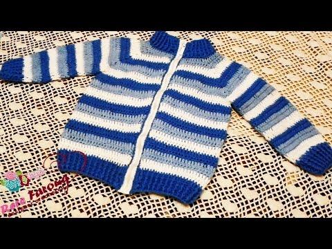 7cdcd16086eba  كروشيه جاكيت (للاولاد والبنات) باى مقاس للاطفال اوالكبار خيط وابره الجزء  (1) Crochet Baby sweeter - YouTube