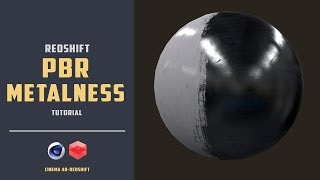 How to use metal Texture maps(Substance_PBR metalness) with Redshift [CINEMA 4D TUTORIAL]