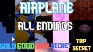 ROBLOX Airplane All Endings (2019 September)