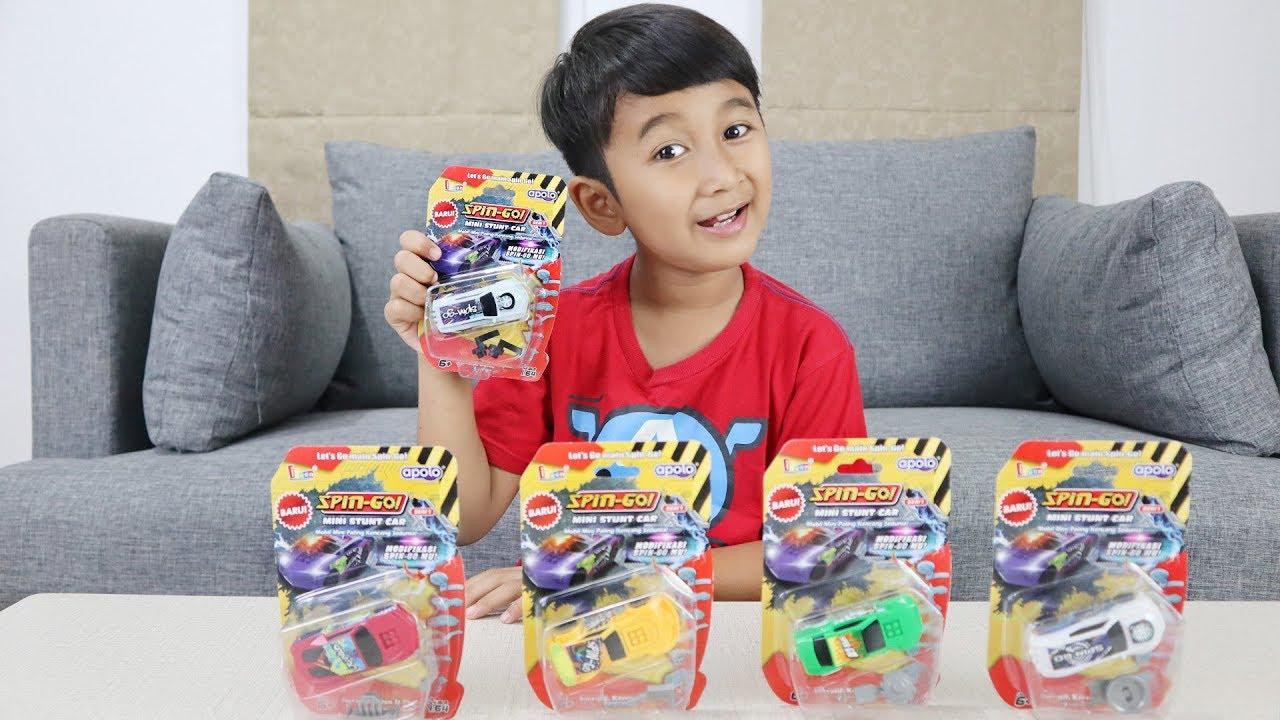 Ziyan Unboxing Mainan Spin Go Mini Stunt Car Youtube