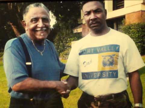 Rev. Joseph Lowery, and George Boston Rhynes Photo!  After Interview on (WJEM) by Rhynes!