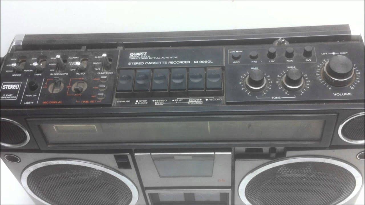 Sanyo Stereo Cassette Recorder M9990l