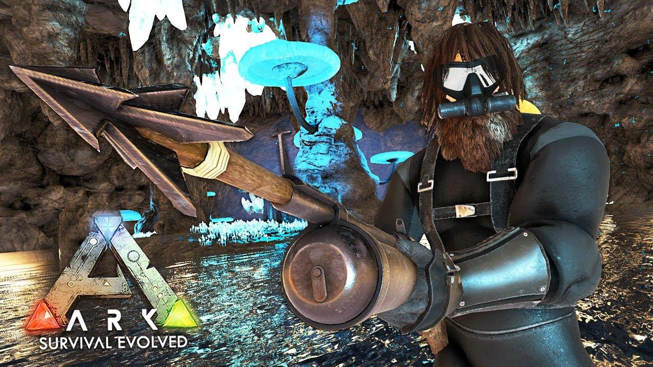 ARK: Survival Evolved - EXPLORING UNDERWATER CAVES!! (ARK