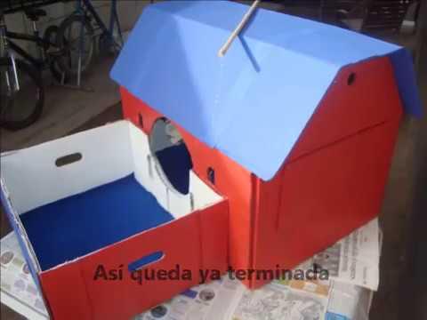 Como hacer una pr ctica y facil casita para tu gato youtube - Como hacer una casita para perros ...