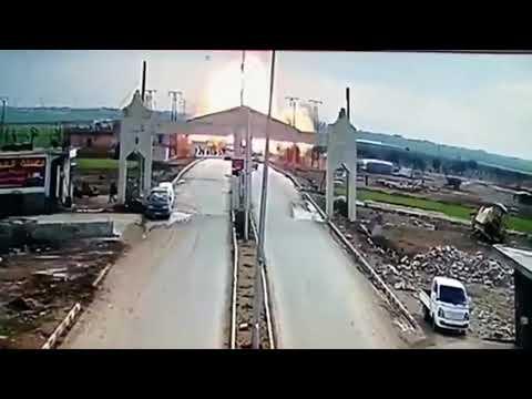 Pulwama attack live cctv camera record