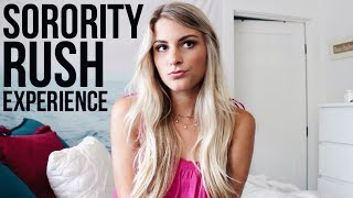 Hey guys! In this video I talk all about my sorority rush experienc...