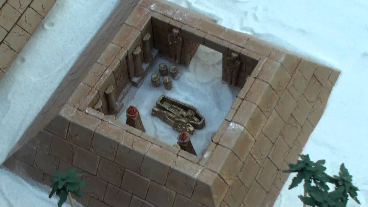 how to make a model sarcophagus